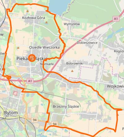 Piekary Śląskie - plan miasta