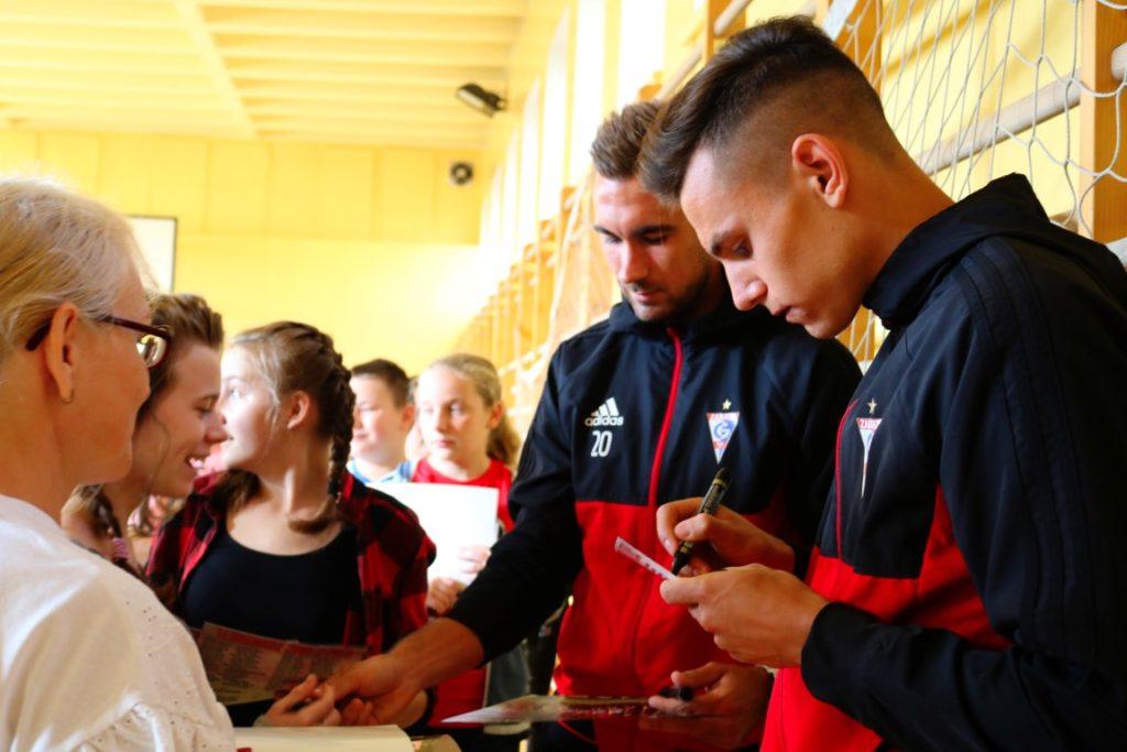 Piłkarze Górnika Zabrze spotkali się z uczniami