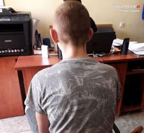 Nieletni włamywacze w rękach mundurowych